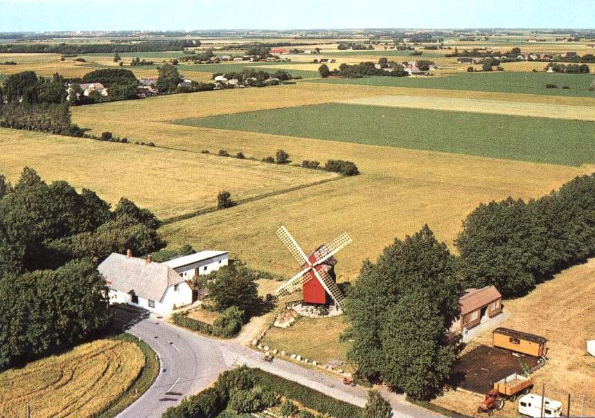 Luftfoto af Kappel Stubmølle