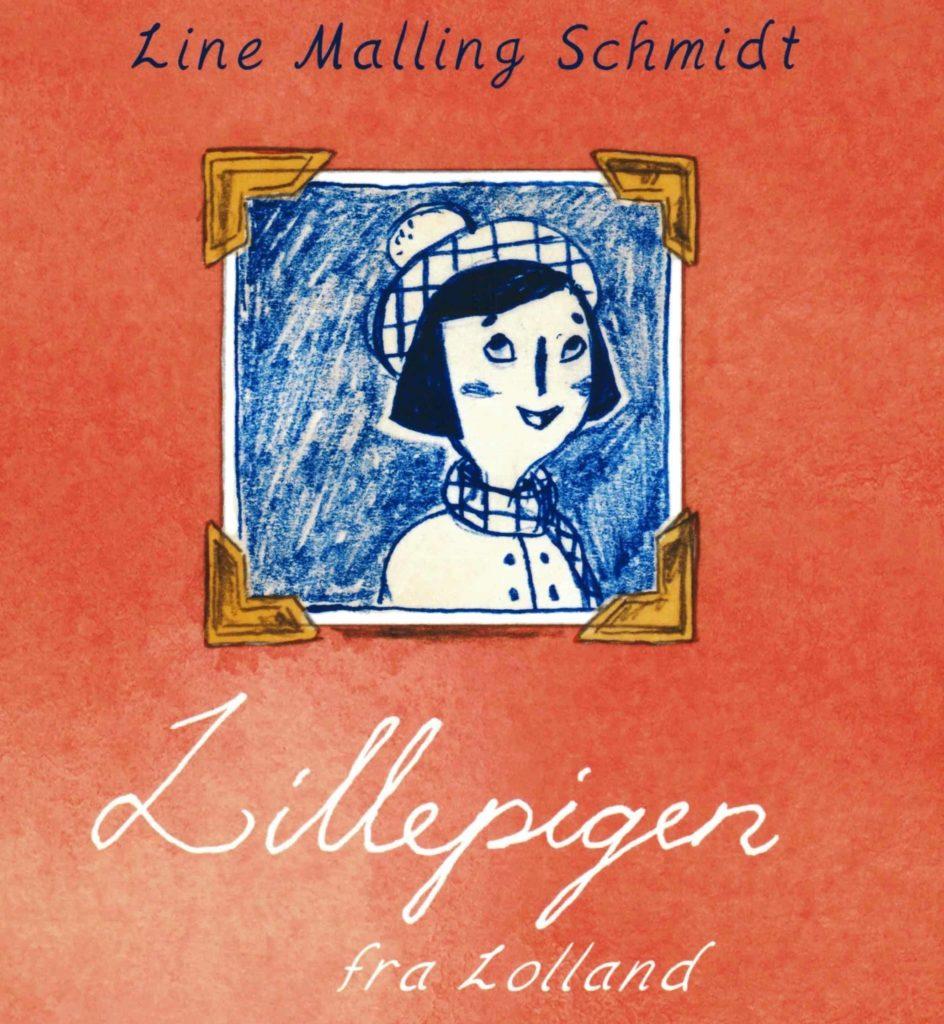 bogforside med tegnet billede af Lillepigen