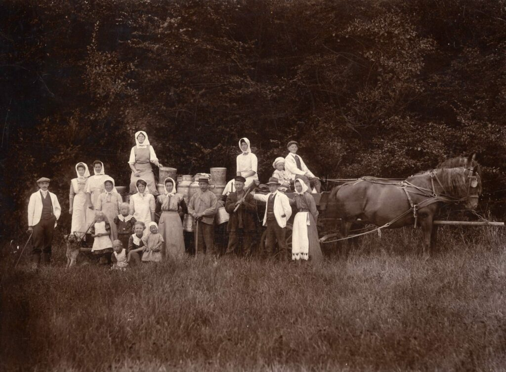 landarbejdere  ved heste